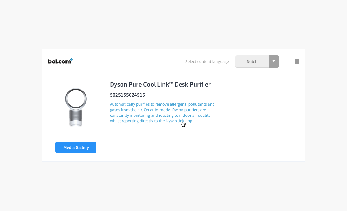 Screenshot Product Edit Page field hover